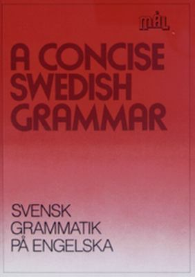 A concise Swedish grammar